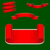 Christmas ribbons set. Royalty Free Stock Images
