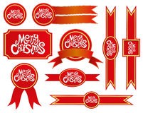 Christmas ribbons. Stock Images