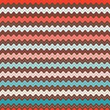 Christmas ric rac pattern. Seamless vector waves in pink and aqua. stock illustration