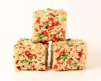 Christmas Rice Krispie squares Stock Images