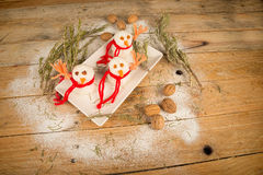 Christmas Rice snowmen Stock Photography