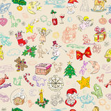 Christmas rich pattern Stock Images
