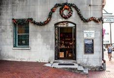 Christmas on the River, Savannah, GA royalty free stock photo