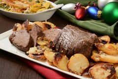 Christmas roast beef Royalty Free Stock Images