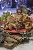 Christmas roast chicken Stock Image