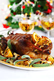 Christmas Roast Duck Stock Images