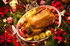 Christmas Roast Duck Stock Photos