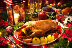 Christmas Roast Duck Royalty Free Stock Photography