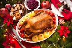 Christmas roast duck Royalty Free Stock Photo