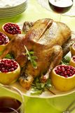 Christmas Roast Goose Royalty Free Stock Photo