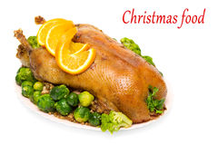 Christmas roast goose Royalty Free Stock Image