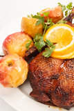 Christmas roast goose Stock Images