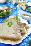 Christmas roast pork in ginger glaze Royalty Free Stock Photography