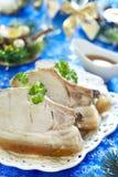 Christmas roast pork in ginger glaze Royalty Free Stock Photography