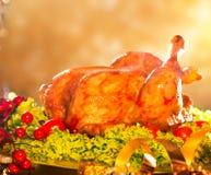 Christmas roasted turkey Stock Image