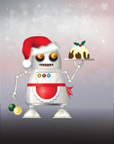 Christmas robot Royalty Free Stock Images
