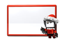 Christmas robot blank board Stock Photography