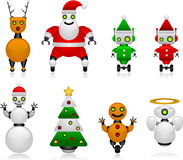 Christmas robots Stock Images