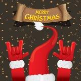 Christmas Rock n roll greeting card. Stock Photos
