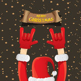 Christmas Rock n roll greeting card. Stock Image