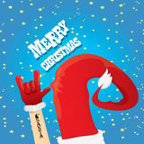 Christmas Rock n roll greeting card. Royalty Free Stock Photo
