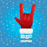 Christmas Rock n roll greeting card. Stock Images