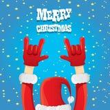 Christmas Rock n roll greeting card. Stock Photo