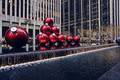 Christmas in Rockefeller Center, New York, USA Royalty Free Stock Photography