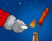 Christmas rocket Stock Photos