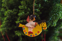 Christmas rocking horse ornament Stock Images