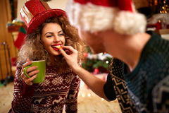 Christmas romance Royalty Free Stock Images
