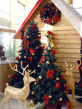 Christmas room. In shopping mall Royalty Free Stock Photography
