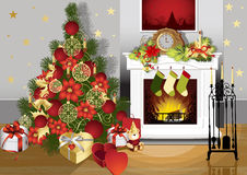 Christmas room Stock Photography