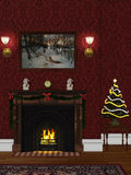 Christmas room 2. 3d render of christmas room 2 Stock Photos