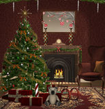 Christmas room Royalty Free Stock Image