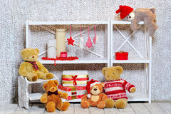 Christmas room decoration Royalty Free Stock Image