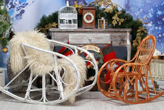 Christmas room decoration Stock Photo