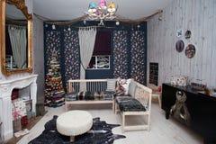 Christmas room interior Royalty Free Stock Photo