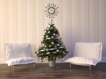 Christmas Room Interior Design. Render Christmas Room Interior Design Royalty Free Stock Photo