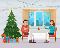 Christmas room interior. Stock Images