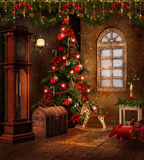 Christmas Room With Toys Stock Image