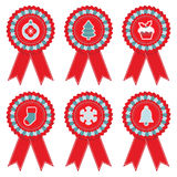 Christmas rosettes Stock Photography