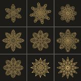 Christmas rosettes in arabic style Royalty Free Stock Photography