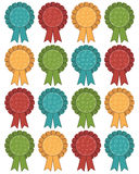 Christmas rosettes Stock Images