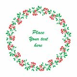 Christmas floral background Stock Photo