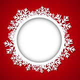 Christmas round frame Stock Photo