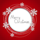 Christmas round frame. With place for text royalty free illustration