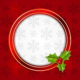 Christmas round frame Royalty Free Stock Image