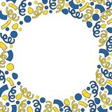 Christmas Round frame from serpentine royalty free illustration