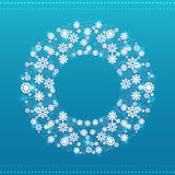 Christmas round frame vector Royalty Free Stock Photo